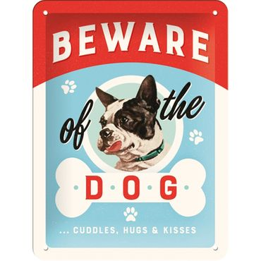 Beware of the Dog retro Spruch Türschild Blechschild v. Nostalgic Art