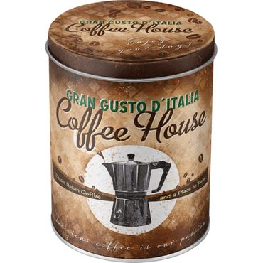 Coffee House 50s retro Blechdose Vorratsdose rund v. Nostalgic Art