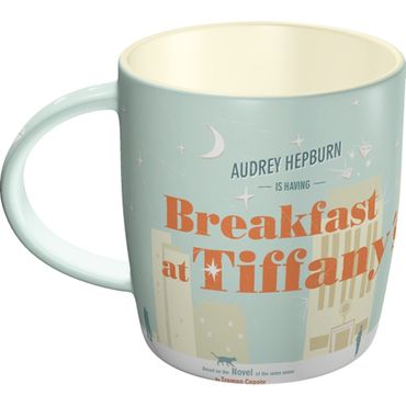 Breakfast at Tiffanys Audrey Hepburn 50s retro Tasse v. Nostalgic Art
