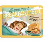Breakfast in Bed 50er retro Tür Blechschild v. Nostalgic Art