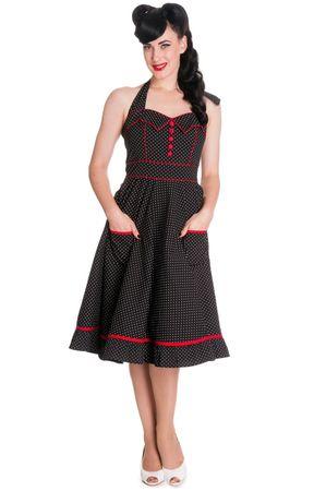 50s retro Polka Dots Neckholder Petticoat Swing Kleid v. Hell Bunny – Bild 2