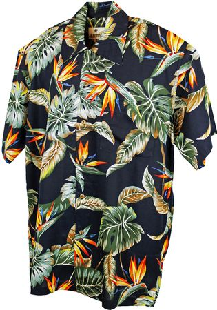 Karmakula retro Hawaii Blätter Hemd Hawaiian Shirt