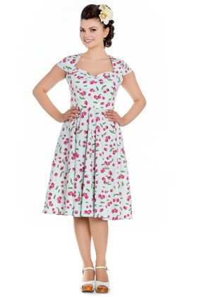 April 50s retro Kirschen Swing Kleid v. Hell Bunny – Bild 2