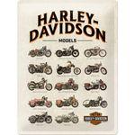 Harley Davidson Model Chart retro Blechschild v. Nostalgic Art 001