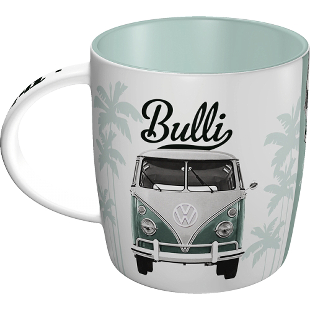vw bulli good things are ahead of you 50s retro tasse v. Black Bedroom Furniture Sets. Home Design Ideas