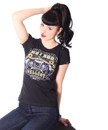 Girlie Hot Rod T-Shirt v. Hotrod Hellcat – Bild 2