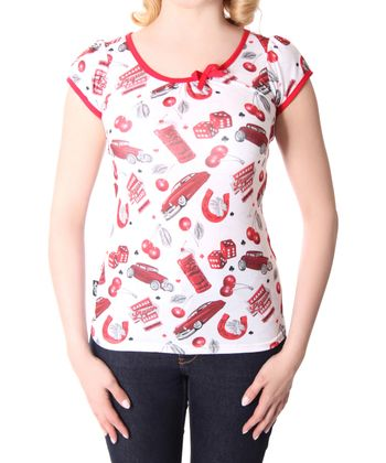 Cherry Garage Girl Doll Puffärmel T-Shirt v. Liquor Brand – Bild 4