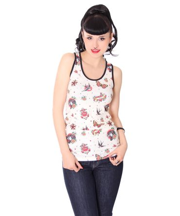 oldschool Classic Tattoo Flash Tank Top v. Liquor Brand – Bild 1