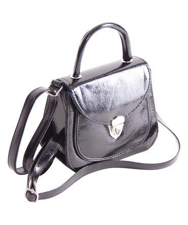 Jonna 60er retro vintage style Schnallen Lack Koffer-Handtasche v. SugarShock – Bild 2