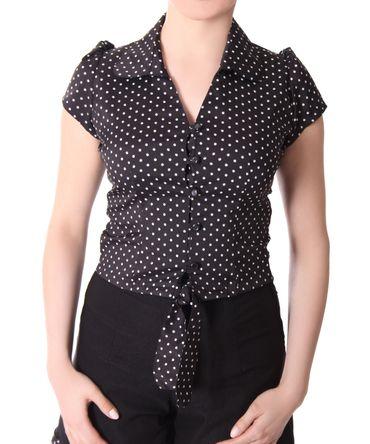Reeva Polka Dots retro vintage Style Binde Bluse v. SugarShock – Bild 5