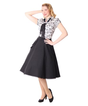 Montra Pin Up Schößchen Tellerrock Petticoat Rock Peplum Swing Skirt v. SugarShock