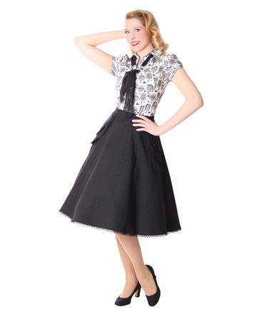 Montra Pin Up Schößchen Tellerrock Petticoat Rock Peplum Swing Skirt v. SugarShock – Bild 1
