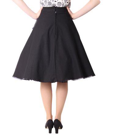 Montra Pin Up Schößchen Tellerrock Petticoat Rock Peplum Swing Skirt v. SugarShock – Bild 5