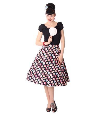 Montra Pin Up Cupcake Schößchen Tellerrock Petticoat Rock  v. SugarShock – Bild 4