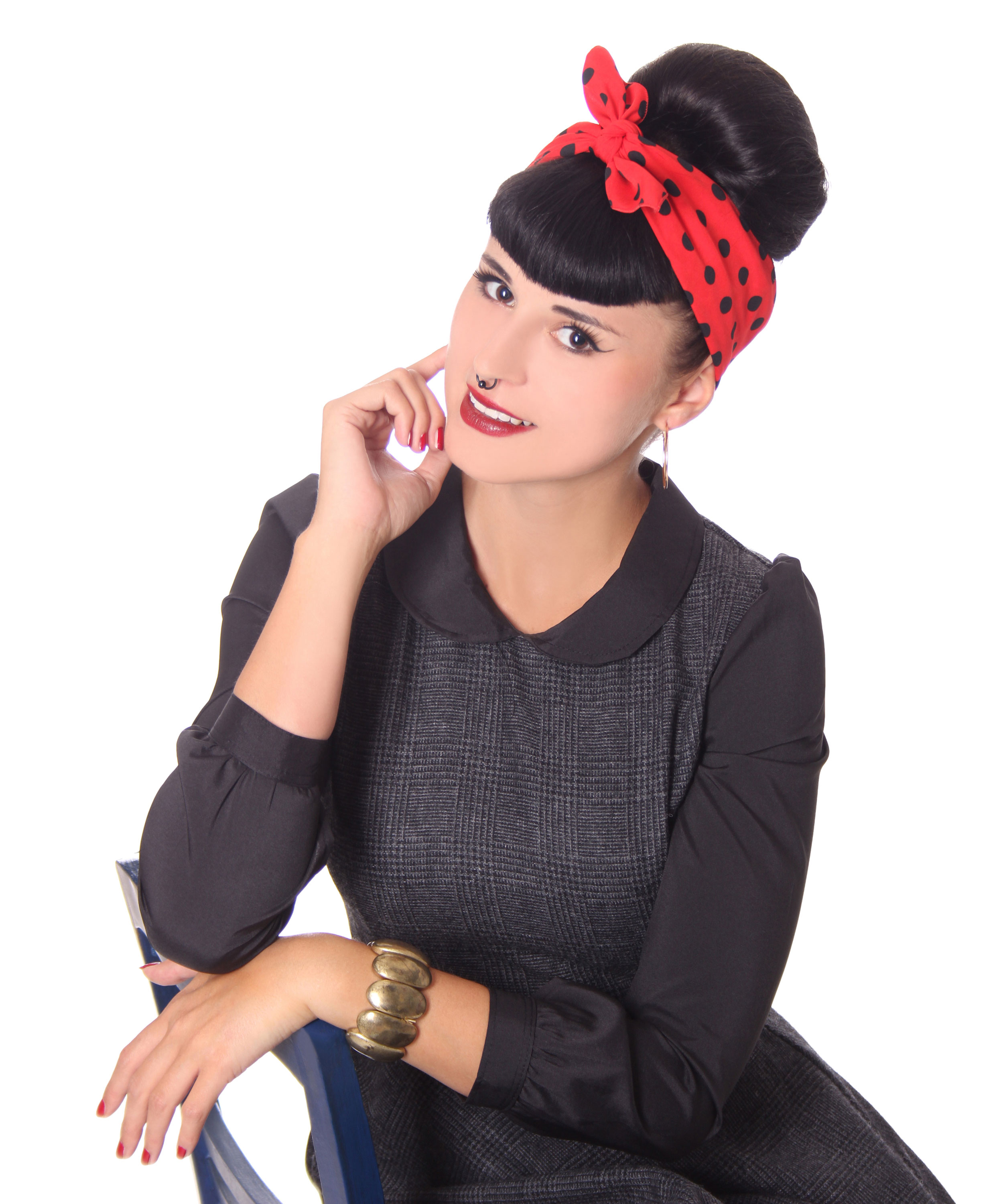50s frisuren polka dots retro nickituch hairband haar tuch bandana v sugarshock accessoires. Black Bedroom Furniture Sets. Home Design Ideas