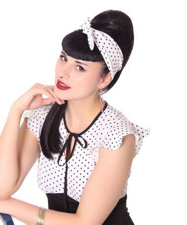 50s Frisuren Polka Dots retro Nickituch Hairband Haar Tuch Bandana v. SugarShock – Bild 6