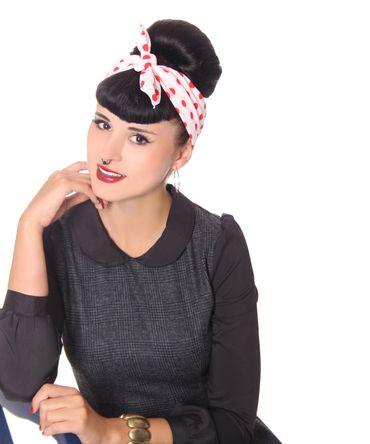 50s Frisuren Polka Dots retro Nickituch Hairband Haar Tuch Bandana v. SugarShock – Bild 11