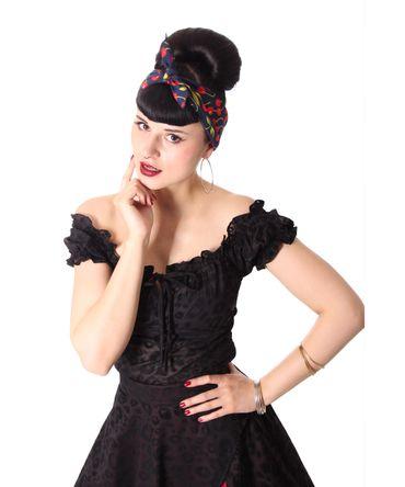 50s Frisuren Kirschen retro Nickituch Cherry Hairband Haar Tuch Bandana v. SugarShock – Bild 8