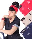 50s Frisuren Anker retro Nickituch Hairband Sailor Haar Tuch Bandana v. SugarShock