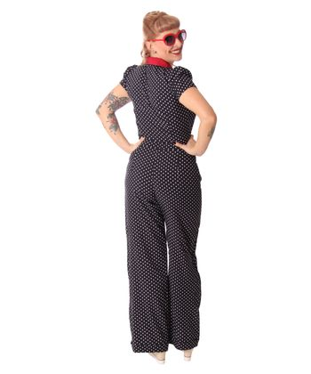 Londa 50er retro Polka Dots Jumpsuit Pin Up Overall Playsuit v. SugarShock – Bild 4