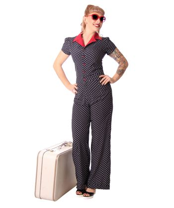 Londa 50er retro Polka Dots Jumpsuit Pin Up Overall Playsuit v. SugarShock – Bild 7