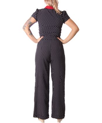 Londa 50er retro Polka Dots Jumpsuit Pin Up Overall Playsuit v. SugarShock – Bild 6