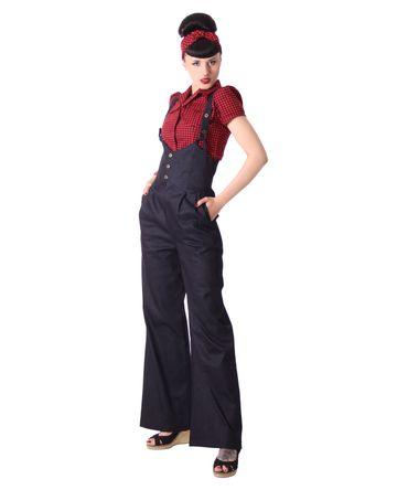 Lorai 30er 40er retro Marlene Suspender High Waist Hosenträger Hose v. SugarShock – Bild 13