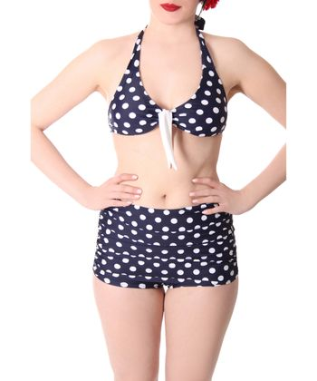 Oliana 50s Pin Up Polka Dots retro High Waist Bikini v. SugarShock – Bild 4