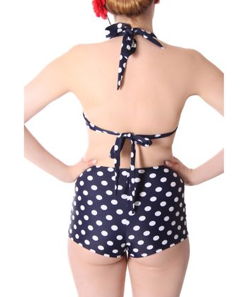 Oliana 50s Pin Up Polka Dots retro High Waist Bikini v. SugarShock – Bild 5