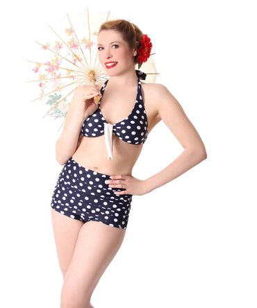 Oliana 50s Pin Up Polka Dots retro High Waist Bikini v. SugarShock – Bild 1