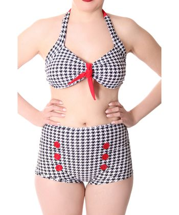 Dorisa 50s Pin Up Pepita Houndstooth retro High Waist Bikini v. SugarShock – Bild 5