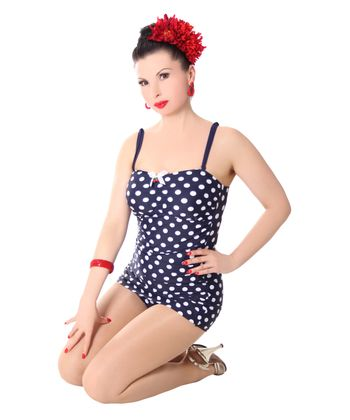 Marynn 50er retro Polka Dots Pin Up Badeanzug v. SugarShock – Bild 5