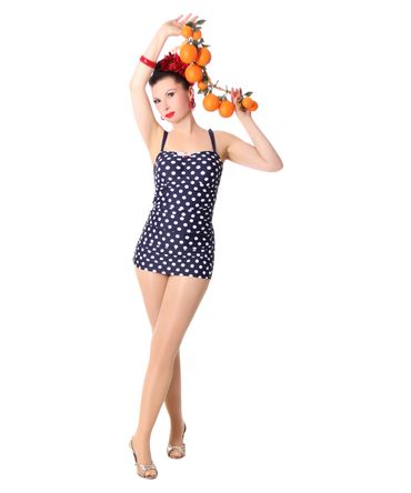 Marynn 50er retro Polka Dots Pin Up Badeanzug v. SugarShock – Bild 3