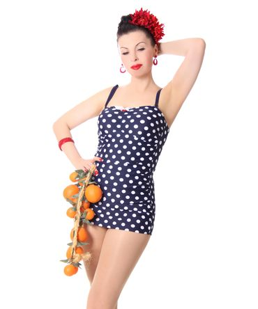 Marynn 50er retro Polka Dots Pin Up Badeanzug v. SugarShock – Bild 4