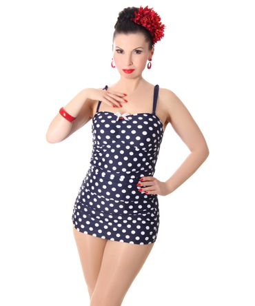 Marynn 50er retro Polka Dots Pin Up Badeanzug v. SugarShock – Bild 6