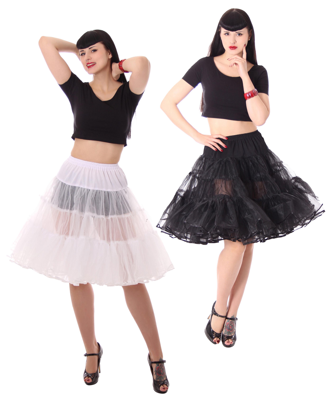 Pompilia 2 lagiger 50er Jahre Style Petticoat Unterrock Tellerrock v ...