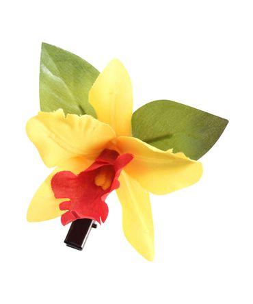 Orchideen Blüten Haarclip Haarblüte Haarspange – Bild 6