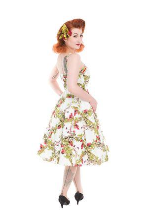 50er Jahre Forest Petticoat Swing Träger Kleid v. Hearts & Roses – Bild 2