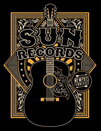 Gitarren retro Männer T-Shirt v. Sun Records – Bild 2