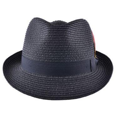 Sommer Strohhut Feder Hut retro Feather Straw Trilby Fedora Hat ungefüttert – Bild 2