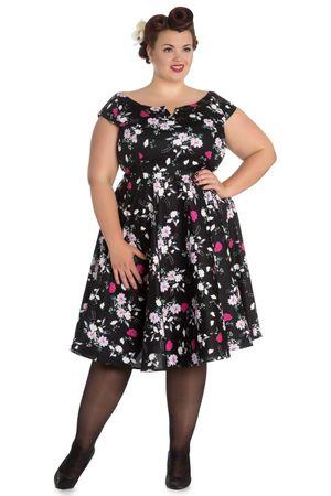 Florales Belinda 50s retro Swing Petticoat Kleid v. Hell Bunny – Bild 6