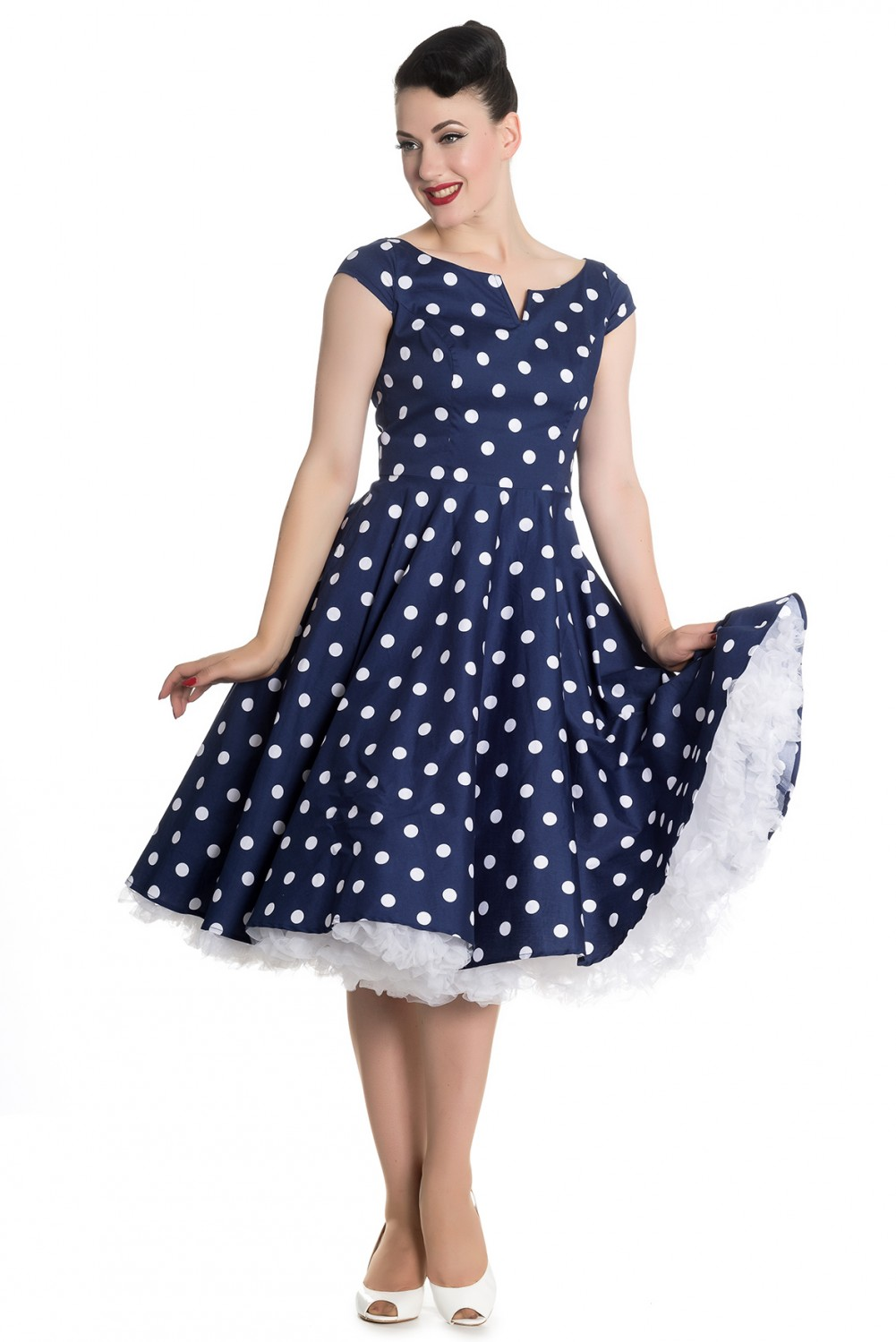 Nicky 50s Retro Polka Dots Petticoat Kleid V Hell Bunny Frauen Kleider