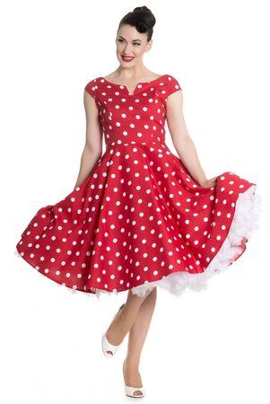 Nicky 50s retro Polka Dots Petticoat Kleid v. Hell Bunny – Bild 5