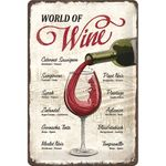 World of Wine 50er retro Liebhaber Blechschild 001