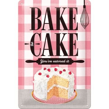 Nostalgic Art Bake a Cake 50s retro Deko Blechschild