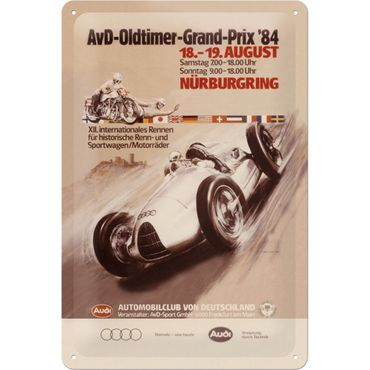 Nostalgic Art Audi AvD Oldtimer Grand Prix retro Liebhaber Deko Blechschild