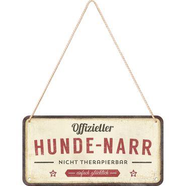 Nostalgic Art Pfotenschild Hunde Narr Hängeschild 50s retro Türschild