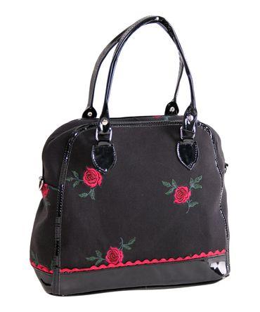 Chanlina 50s retro Rosen Handtasche Embroidery Bag v. SugarShock – Bild 2