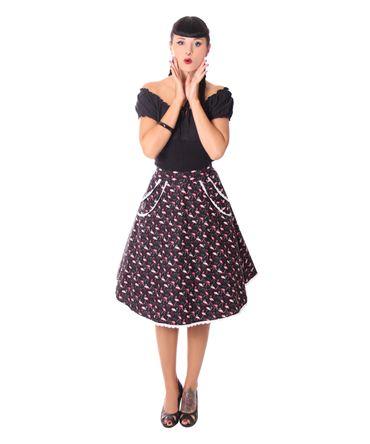 Montra Pin Up Flamingo Schößchen Tellerrock Petticoat Rock  v. SugarShock – Bild 3