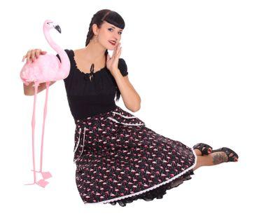 Montra Pin Up Flamingo Schößchen Tellerrock Petticoat Rock  v. SugarShock – Bild 8